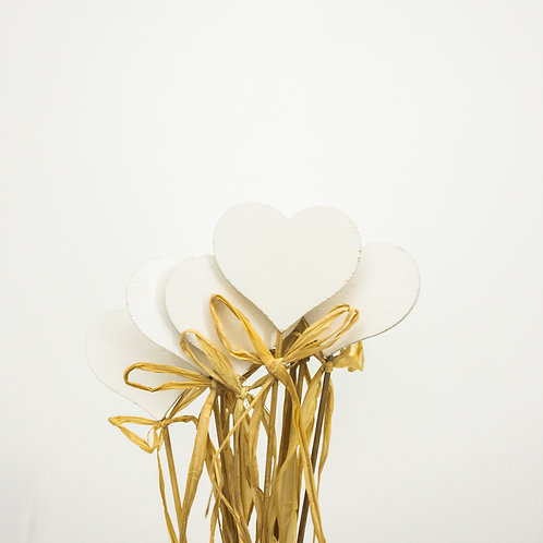 Piki serca białe