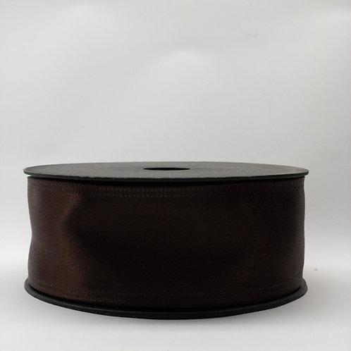 Atłas z drutem 40mm ciemny brąz