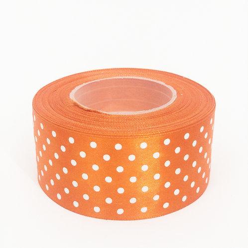 Atłas kropka 40mm pomarańcz