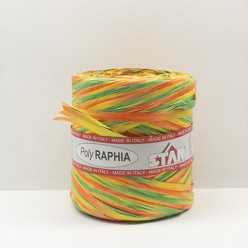 Rafia włoska mix żółty, pomarańcz, seledyn