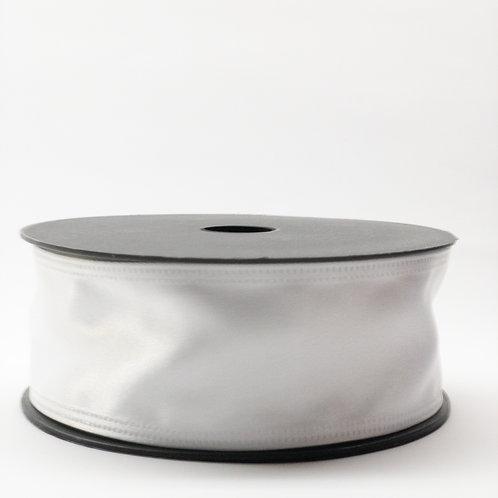 Atłas z drutem 40mm biały