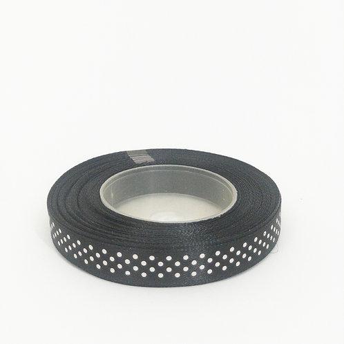 Atłas kropka 12mm czarny
