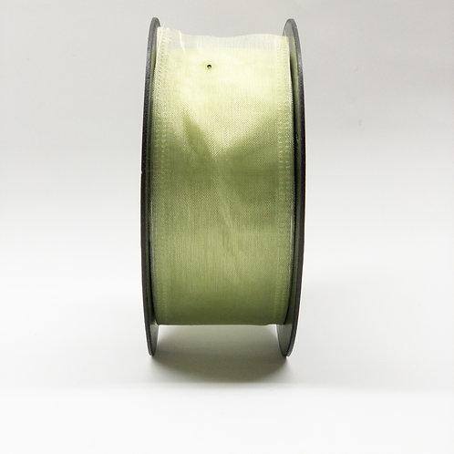 Szyfon z drutem 40mm blady zielony