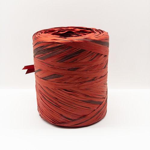 Rafia włoska mix bordowo czerwona