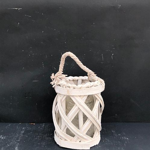 Lampion rattanowy okrągły