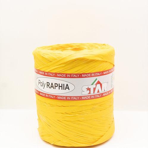 Rafia włoska ciemny żółty