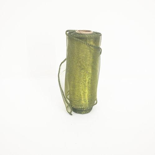 Organza 12cm ciemna oliwka 5080