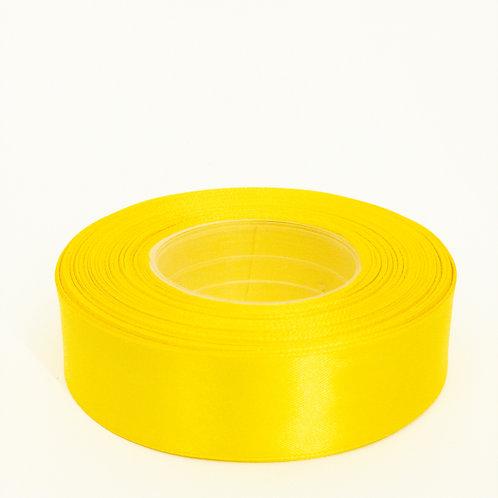 Atłas 25mm żółty