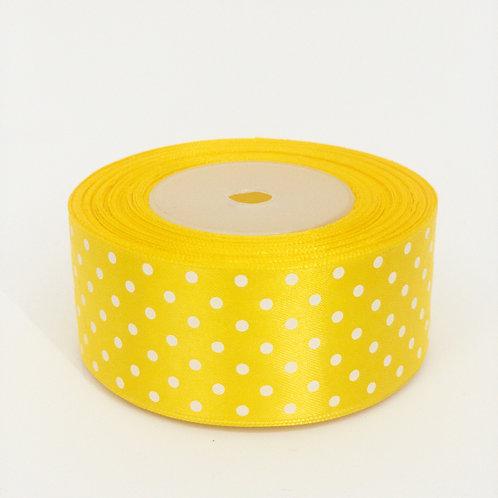 Atłas kropka 40mm żółty