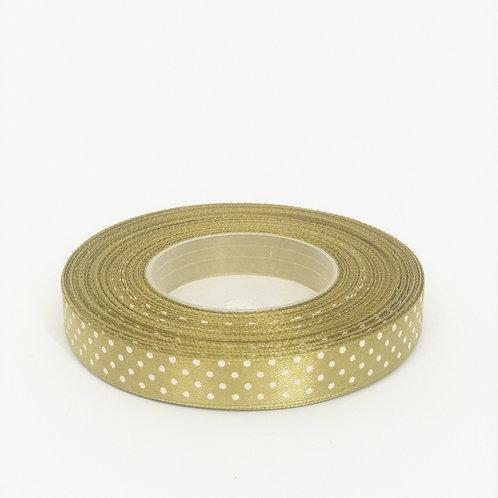 Atłas kropka 12mm złota