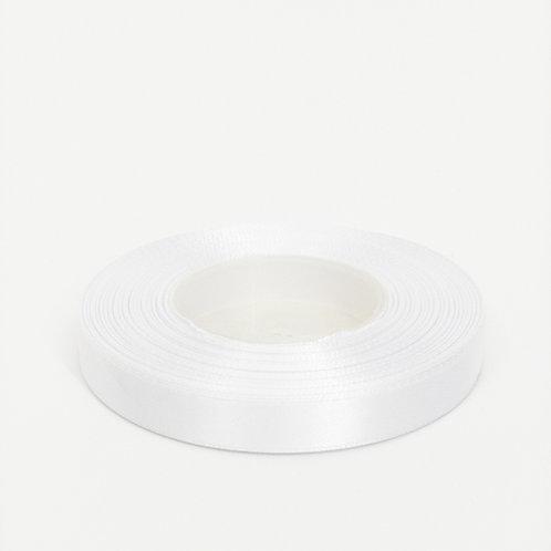 Atłas 1cm biały