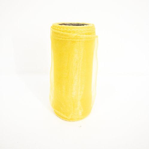 Organza 12cm żółty 5035