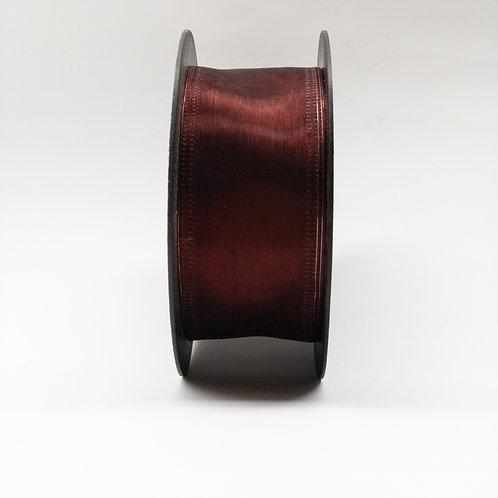 Szyfon z drutem 40mm bordo