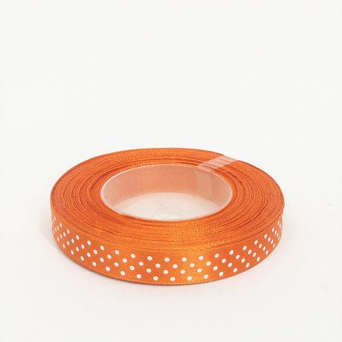 Atłas kropka 12mm pomarańcz