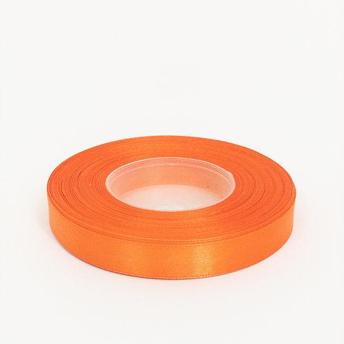 Atłas 1cm ciemny pomarańcz