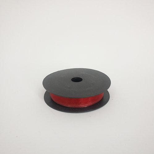 Szyfon z drutem 25mm czerwony