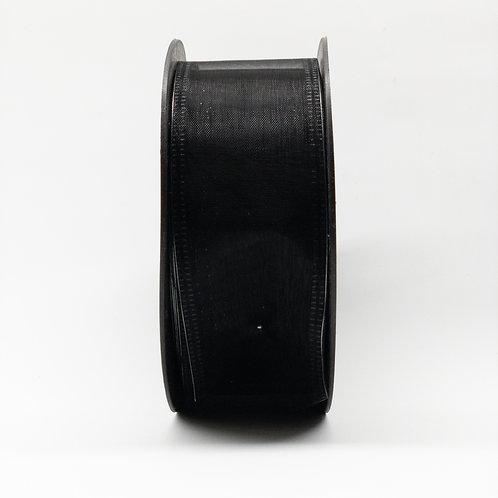 Szyfon z drutem 40mm czarny