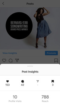 Consistent posts helped me maintain a reach of over 700 accounts per post.