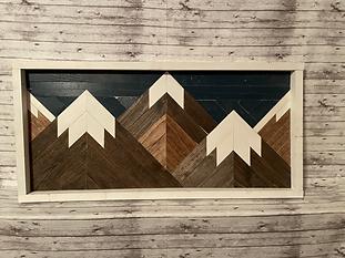 Mountain Range Wall Hanging (NOT SEALED W/ EPOXY)