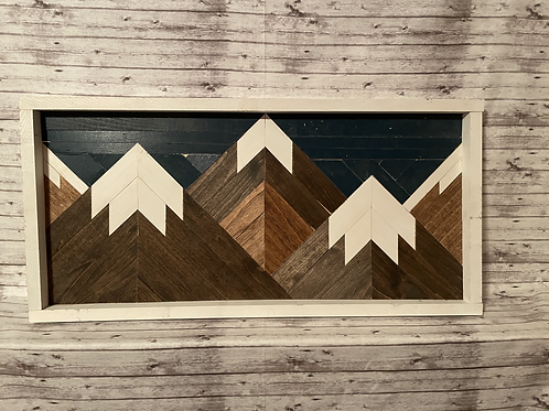 Mountain Range Wall Hanging (SEALED W/ EPOXY)