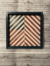 Red, White and Blue Wood Barn Quilts (NOT SEALED W/ EPOXY