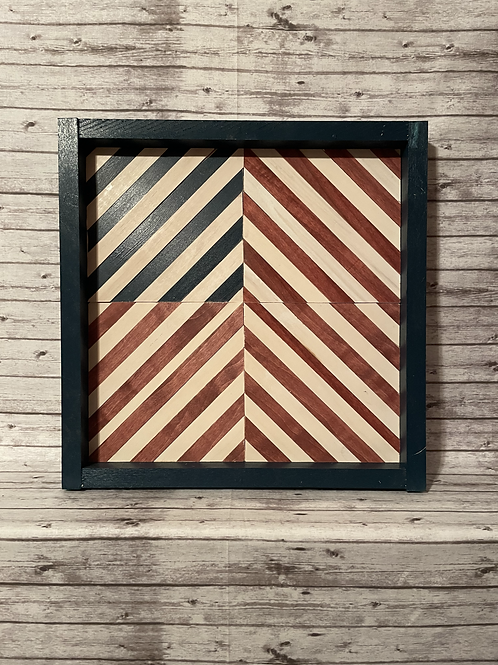 Red, White and Blue Wood Barn Quilts (SEALED W/ EPOXY