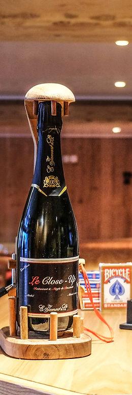 leclose-up.fr , bouteille de champagne, restaurant le close-up
