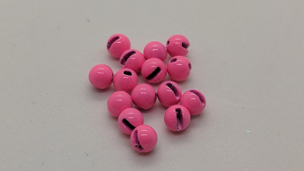 Slotted Tungsten Beads Pink 100pk.