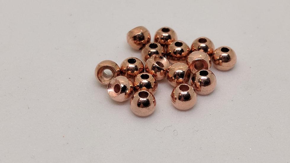 Countersunk Tungsten Beads Copper 100pk.