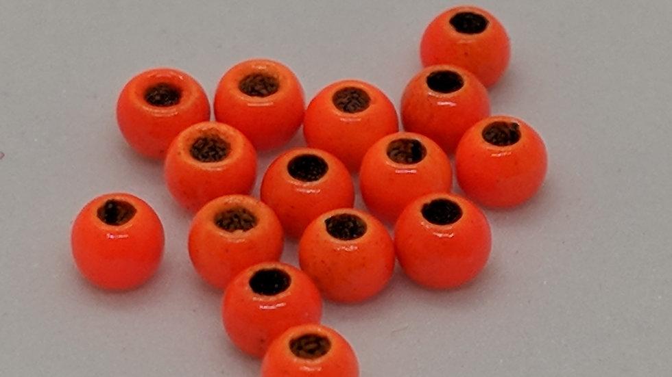 Brass Beads Orange 100 Count