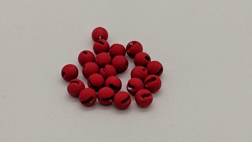 Slotted Matte Dark Red Tungsten