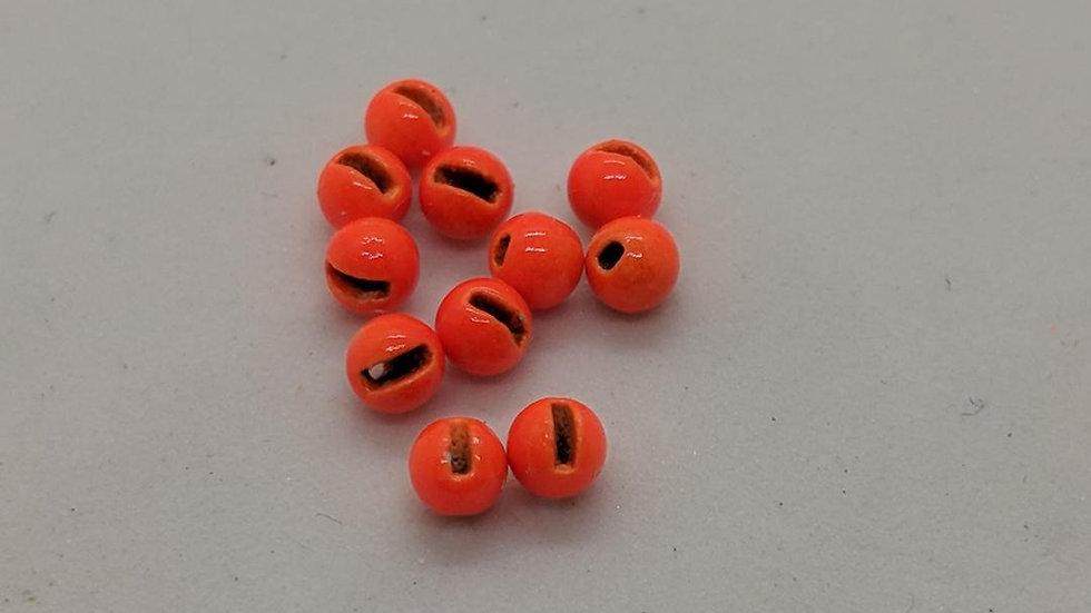 Slotted Tungsten Beads Orange 100pk.
