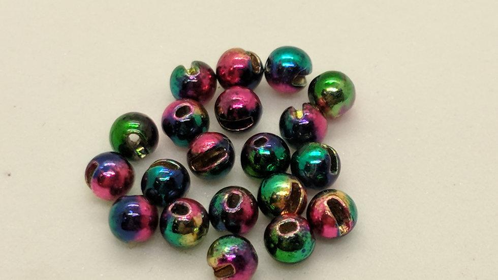 Slotted Tungsten Beads Rainbow 100pk.