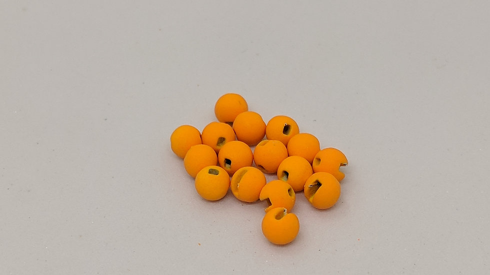 Slotted Tungsten Beads Matte Wheat Color