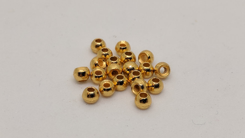 Countersunk Tungsten Beads Gold 100pk.