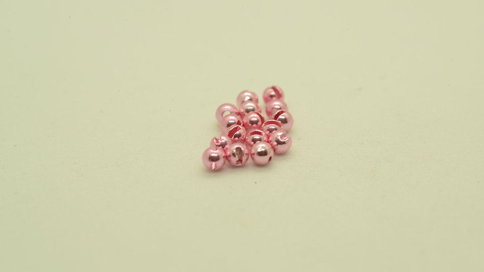Slotted Tungsten Anodized Pink Beads