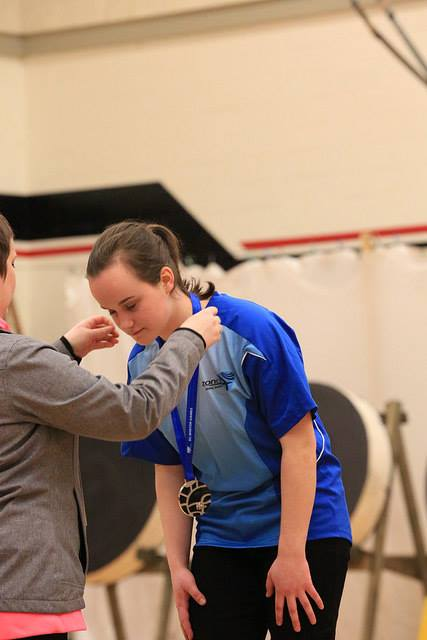 Mikaela receives a Silver Medal in Female Recurve
