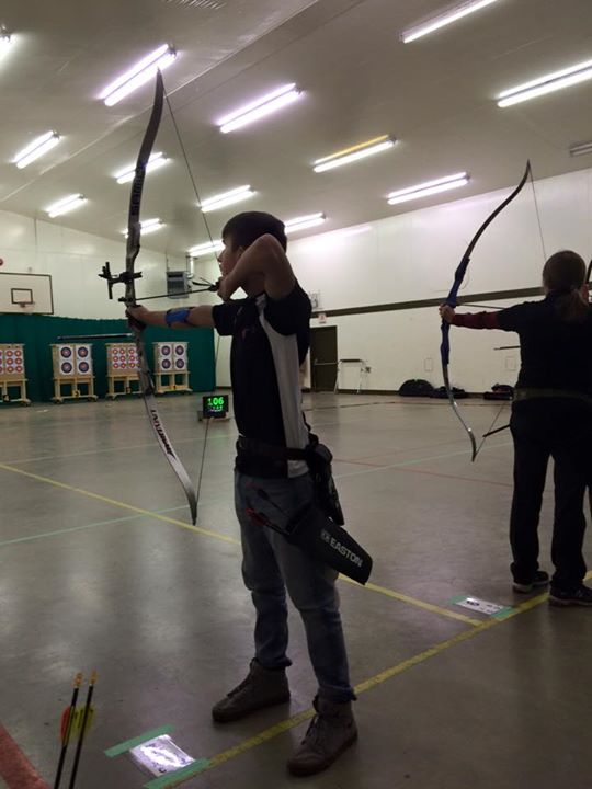 Jesse trying out for male recurve