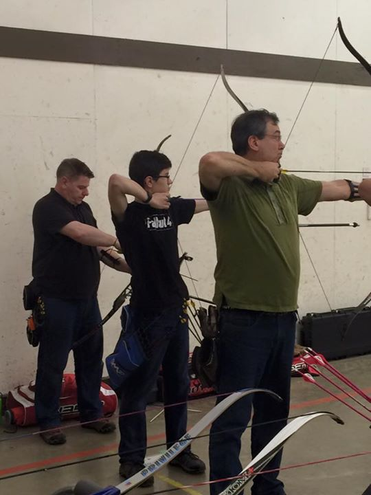 Ben trying out for male recurve