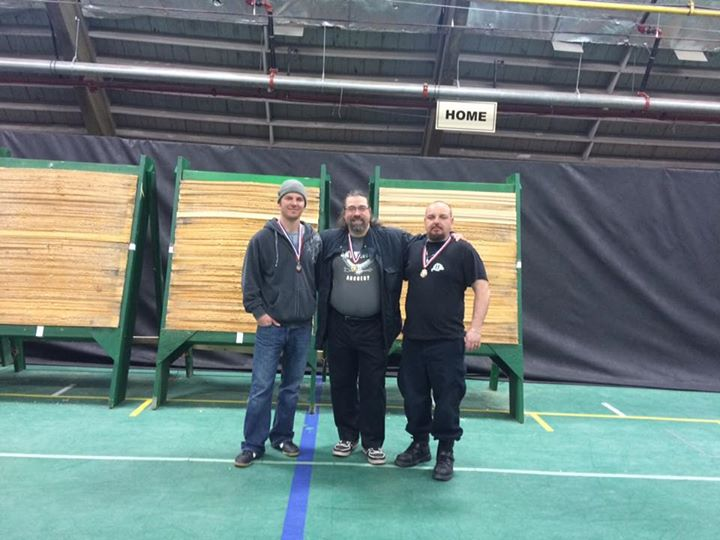 Me and Logan with Arpad, who was moved from our Barebow category to the longbow due to his Hungarian
