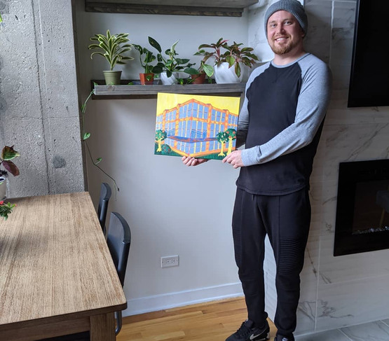 Sean with his Client Gift