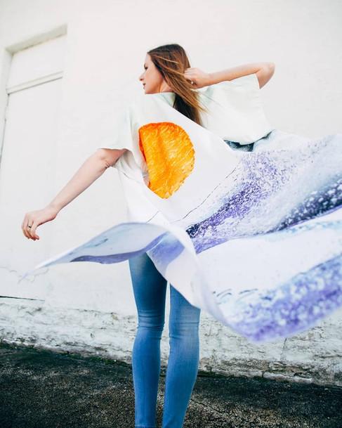 Sun and Wave Art Robe