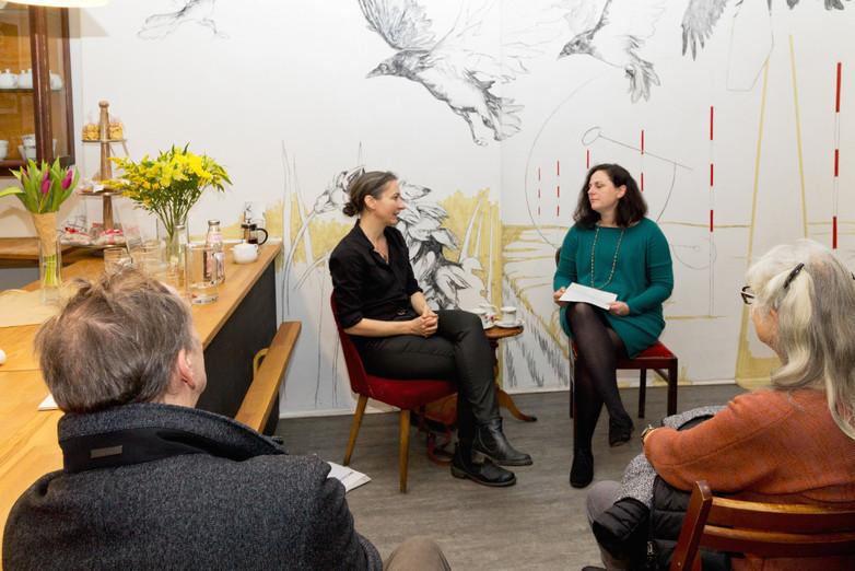 Künstlergespräch mit Johanna K Becker in der Backstube