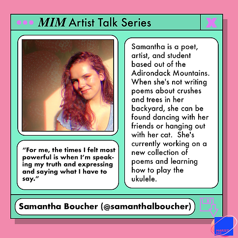 MIM artist talk samantha boucher graphic