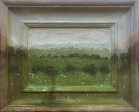 Sussex painting, small painting, south downs, downland, Artologie