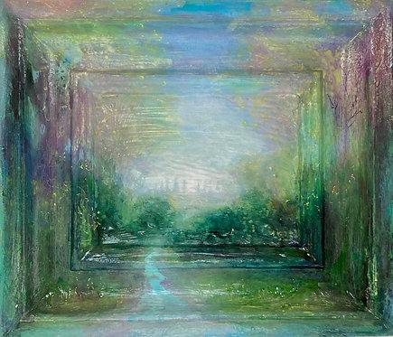 'Royal Pavilion Gardens' framescape painting