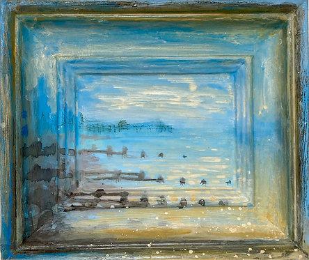 'Deserted' framescape painting