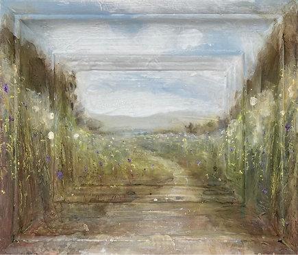 'Spring Parade' framescape painting