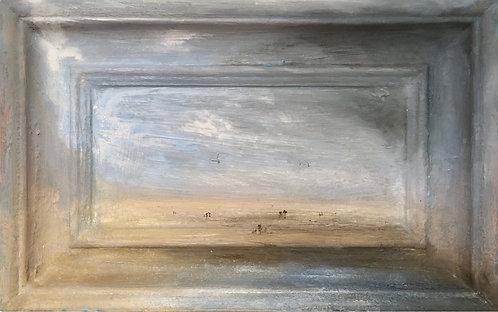 seascape, contemporary british art, british women artist, sussex beach painting, sussex artist, seaview, rottingdean beach