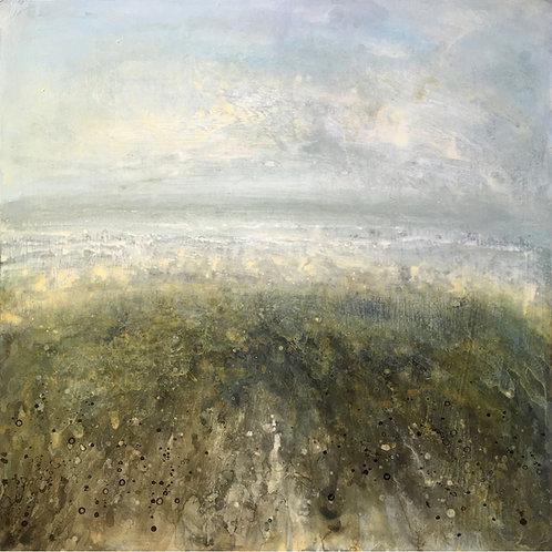 Beach painting, seascape, sea art, sussex beach, editioned print, rottingdean beach